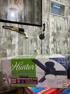 """Hunter 44"""" Dublin Ceiling Fan with LED Light and Handheld Remote"""