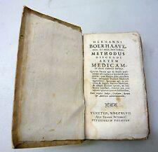 Boerhaave,METHODUS DISCENDI ARTEM MEDICAM,1747 Bettinelli+catalogo[medicina