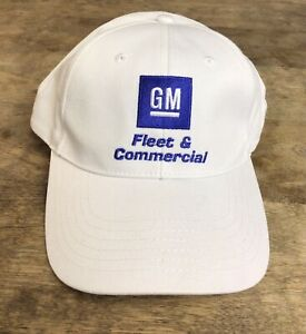 GM FLEET & COMMERCIAL EMBROIDERED WHITE BASEBALL HAT AUTO VEHICLE MECHANICAL NEW