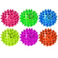 6 Flashing Spiky 5.5cm Ball Sensory Toys - Fiddle Fidget Stress Sensory Autism