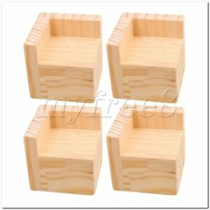 4Pieces 6cm Length Wooden Furniture Lifter Bed Sofa Table Legs Riser Add 5cm