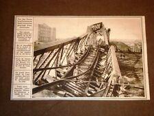 WW1 Prima guerra mondiale Ponte della ferrovia a Czenstochau Cattedrale di Reims