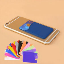 1pc Silicone Mobile Phone Credit Card Wallet Holder Pocket Stick-On Adhesive