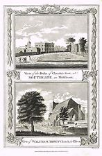"Roberts's  - ""VIEW OF WALTHAM ABBEY CHURCH IN ESSEX"" - Copper Eng, - 1786"