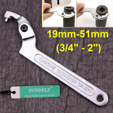 "NEW 19mm-51mm(3/4""-2"") Round End Adjustable Hook Pin Wrench C Spanner Tool"