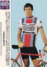 CYCLISME carte cycliste CLAUDE MOREAU équipe COOP HONVED ROSSIN 1984
