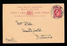 Used Postal Card, Stationery Malta Stamps (Pre-1964)