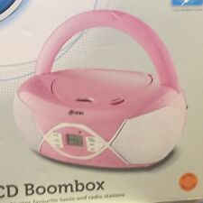 Onn Pink Portable CD Boombox with Radio FM, Model CD78-P 0809104