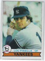 "1979 TOPPS LOU PINIELLA #648 NEW YORK YANKEES-""LOW GRADE"" MIS-CUT SEE SCANS"