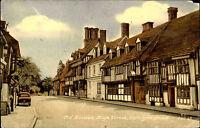 East Grinstead England Vintage Postcards ~1960 Old Houses Car High Street Scene