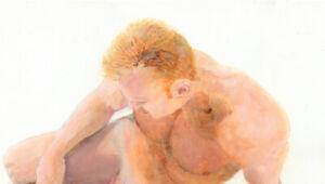 BRETT Beasley watercolor 1/37/50 Esteban Realism nude male FREE SHIP