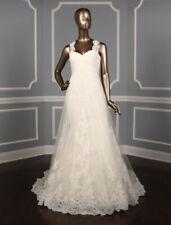 Pronovias Petunia Diamond White Trumpet Sweetheart Lace Wedding Dress 8 1.4K NEW