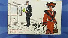 LIMERICK Comic Postcard 1906 Railway Guard Theme SHE SAID IT WAS VERY UNKIND