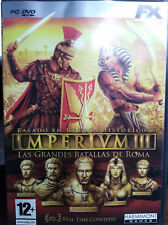 IMPERIUM 3: LAS GRANDES BATALLAS DE ROMA. JUEGO PC. PAL-ESP. USADO, BUEN ESTADO.