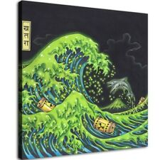 "12""x12""Surfing in kanagawa Hd Canvas prints Home decor Painting Wall art Posters"