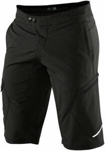 100% Ridecamp Men's Mountain Bike Shorts Black Size 30