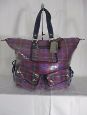 Coach Poppy Sequin Spotlight Purple XL Tote Shoulder Bag Purse 15890