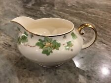 Pope Gosser American Ivy CREAMER, Discontinued, Green & Yellow Leaves, Gold Rim