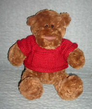 Gund  plush brown  bear with red sweater   Exclusively for Lindt    item 43511