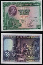 500 Pesetas año 1928. Cardenal Cisneros. Sin Serie nº 0822703. BONITO en EBC.