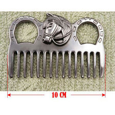 Quality Stainless Steel Horse Pony Grooming Comb Tool Curry Comb Accessory