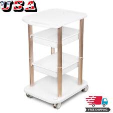 Trolley Spa Styling Pedestal Rolling Cart Two Shelf Abs Aluminum Beauty Salon Us
