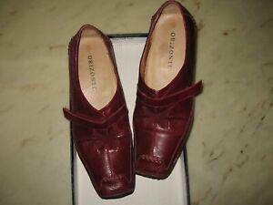 Orizonte Sonya Ladies Rubino Red Leather Flat Shoes Boots Size 38 8