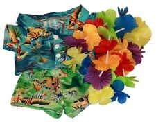 "Camicia Hawaiana Boy Shorts LEI vestito teddy Abiti per adattarsi 15"" Build A Bear"