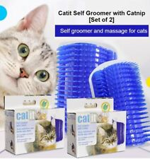 Catit Scratcher Self Groomer Brush with Catnip [Set of 2]