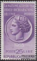 Italien 940 (kompl.Ausg.) postfrisch 1955 Steuerehrlichkeit