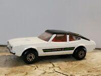 Vintage Matchbox Super Kings Ford Capri MK II K-59 1976 Diecast Car White