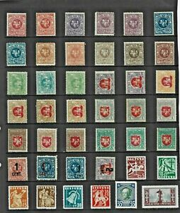 LITHUANIA Stamp COLLECTION Mint including EARLY Issues REF:QV712a