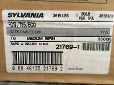 21769-1 Sylvania Bulbs CASE F017/735/ECO Straight T8 Fluorescent Tubes New