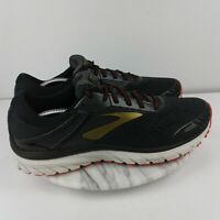 Brooks Adrenaline GTS 18 Mens Size 11 Black/Red Lace Up Running Shoes