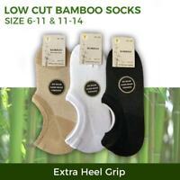 Bamboo Socks Low Cut No Show Sport Sock Men s7-14 Black White Beige