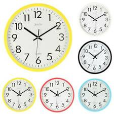 "10"" Retro Round Wall Clock Silent Sweep Movement Home Bedroom Kitchen Decor"