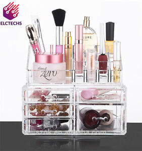 Acrylic Cosmetic Organizer 5 Drawers Drawer Makeup Case Storage Holder Box