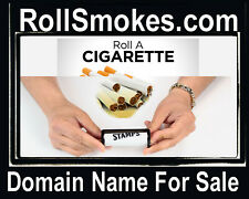 Roll Smokes .com Rolling Machine Teach papers Brand Easy Domain Name For Sale