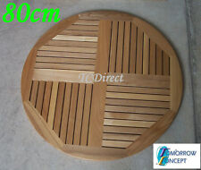 Slat Timber, Round 80cm Cafe Restaurant Table Top T08-80