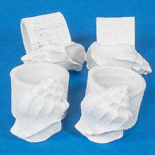 Set of 4 Sea Shells Nautical Napkin Holder Rings Clip Vintage Holder White Resin