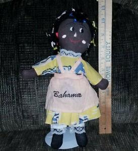 "Handmade Cloth Bahamas Ninkie Rag Doll 11"""