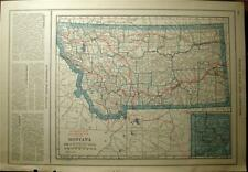 1921 MONTANA IDAHO STATE COUNTY AUTO ROAD HIGHWAY MAP LAWS HISTORY