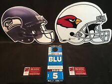 Arizona Cardinals vs Seattle Seahawks 9/29 Blue BLU G Lot Parking Pass Tickets
