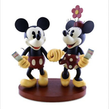 Disney Parks Medium Big Fig Figurine Pie Eyed Minnie and Mickey Mouse NEW