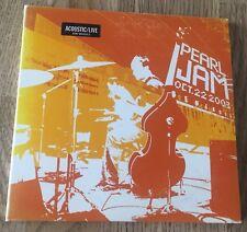 PEARL JAM - Benaroya Hall, Seattle, USA 22.10.2003 *2CD* MADE IN ARGENTINA
