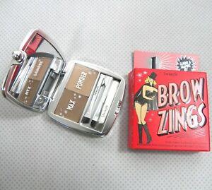Benefit Brow Zings Eyebrow Kit Shade 1 Light/Platinum Shaping Wax Setting Powder