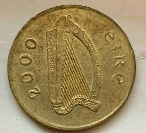 2000 IRELAND 20-Pence KM#25 COIN **RARE** (Horse 20p eire 2000 coin)