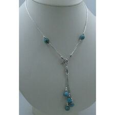 QVC 925 Liquid Sterling Silver Natural High Matrix Turquoise Nugget Necklace