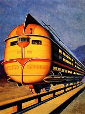 PITTURA FANTASY SCI FI ARM futuro DESIGN TRACK RAIL MONORAIL COOL Print lv2512