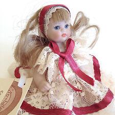 """Cutest Nouveau Vintage mini poupée fait main & painted Unique porcelain Bisque Girl 4"""" Italie"""